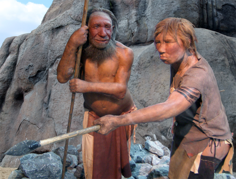 Kommunikative Neandertaler (cc by 3.0)