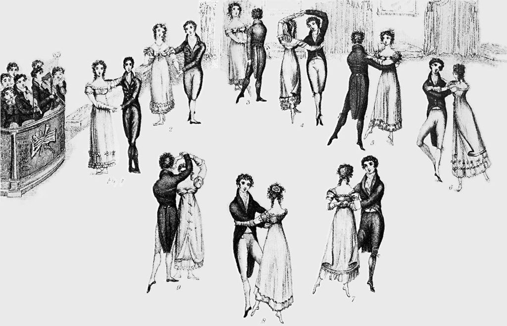 "Das Titelbild zu Thomas Wilsons ""Correct Method of German and French Waltzing"" (1816) © Wiki Commons"