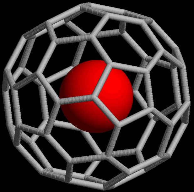 Das Modell eines Fußball-Moleküls; Bild: Endohedral_Fullerene©Wikipedia.jpg