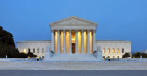 Der U.S. Supreme Court in Washington DC.